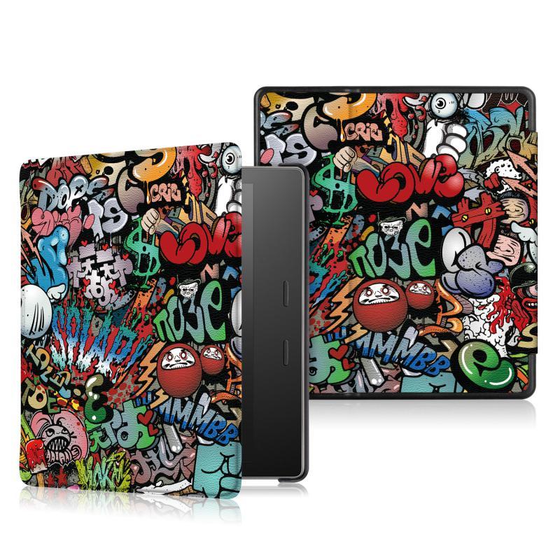 Kindle Oasis 2-3 generáció Védőtok Graffiti