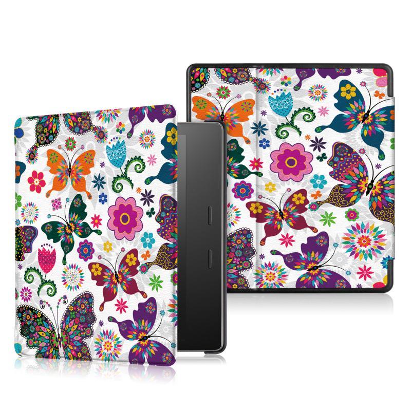 Kindle Oasis 2-3 generácó Védőtok Pillangó-virág