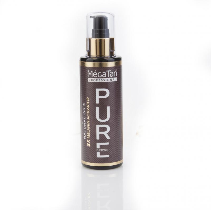 MégaTan Natural Pure Dry Tanning oil + 2X Melanin activator