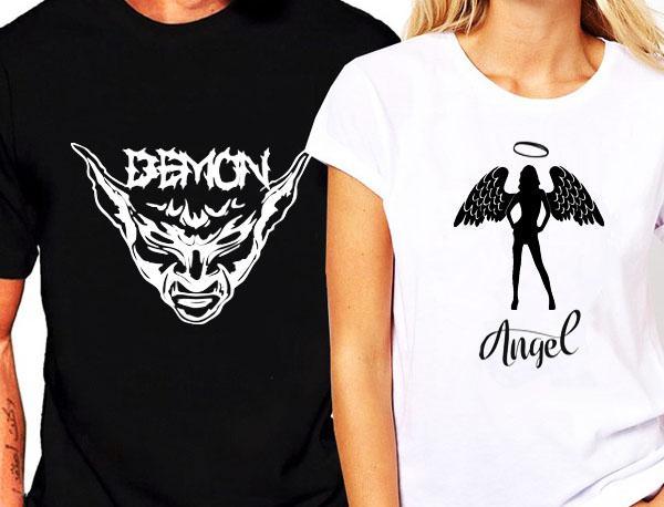 Demon és Angel páros pólók