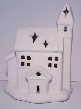 Fehér templom/led
