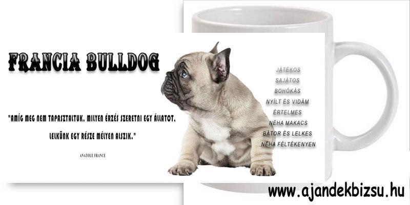 Francia Bulldog bögre