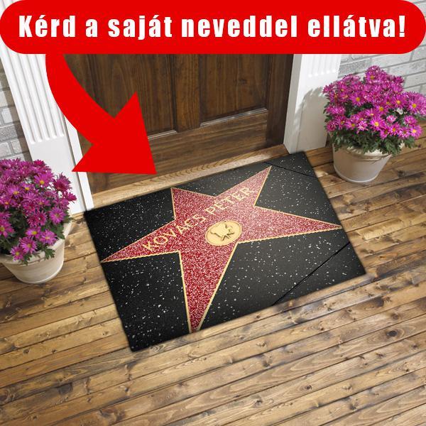 Hollywoodi sztár egyedi névvel, színes lábtörlő