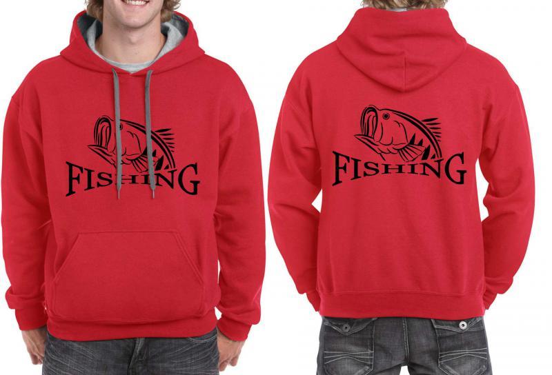 Horgászos unisex pulóver