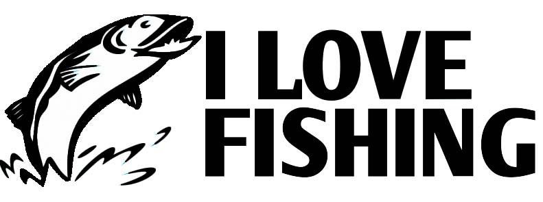 I Love Fishing matrica 20x6,5 cm