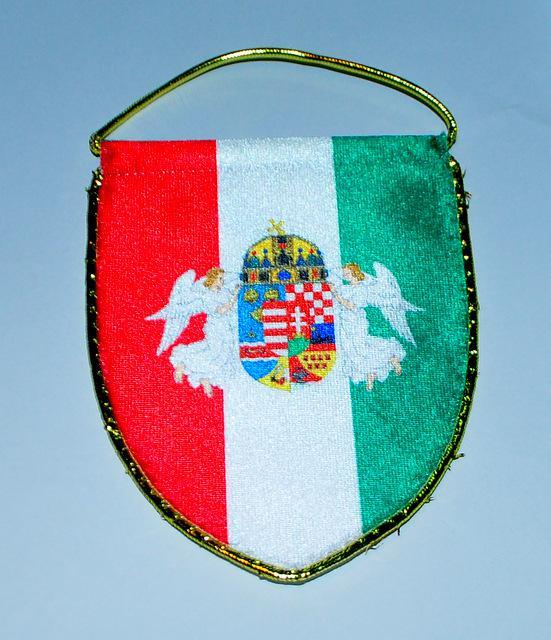 Mini zászló angyalos címerrel