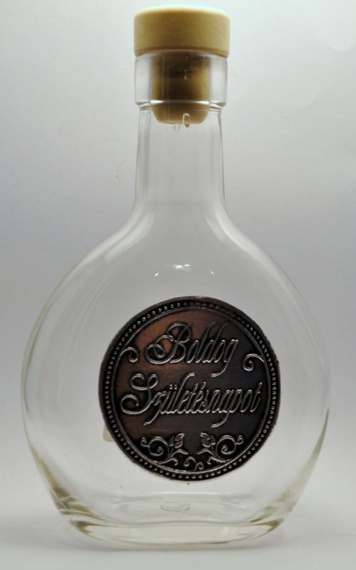 Óncímkés palack születésnapra