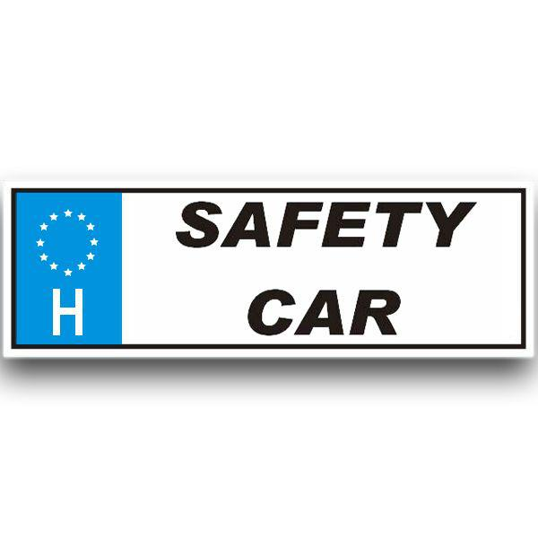 Rendszámtábla/Safety car