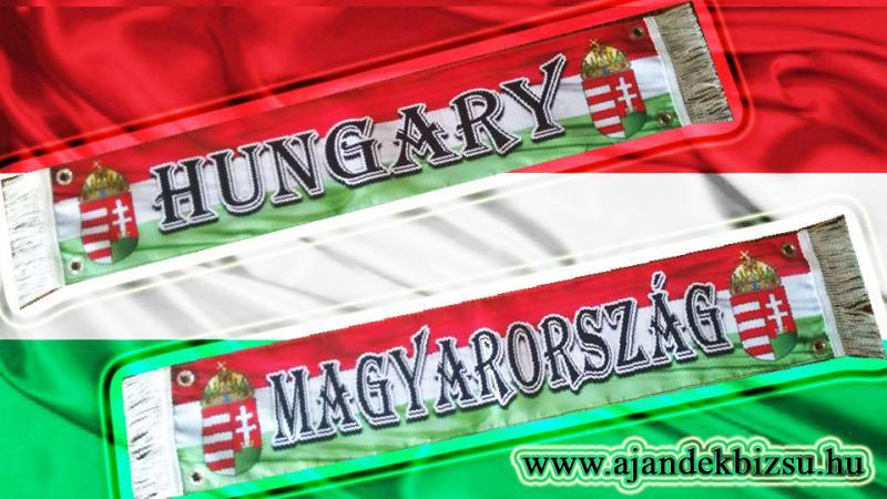 Selyem kamionos zászló Hungary vagy Magyarország felirattal