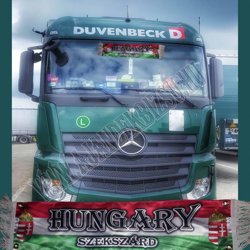 Selyem kamionos zászló saját névvel