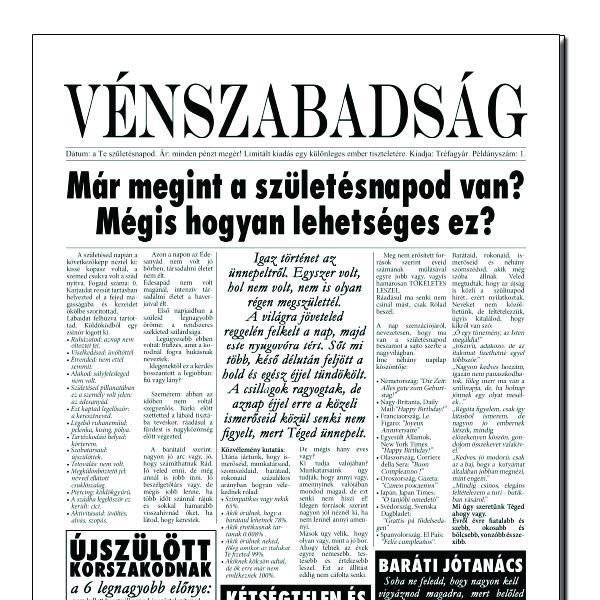 Születésnapi újság (vénszabadság)