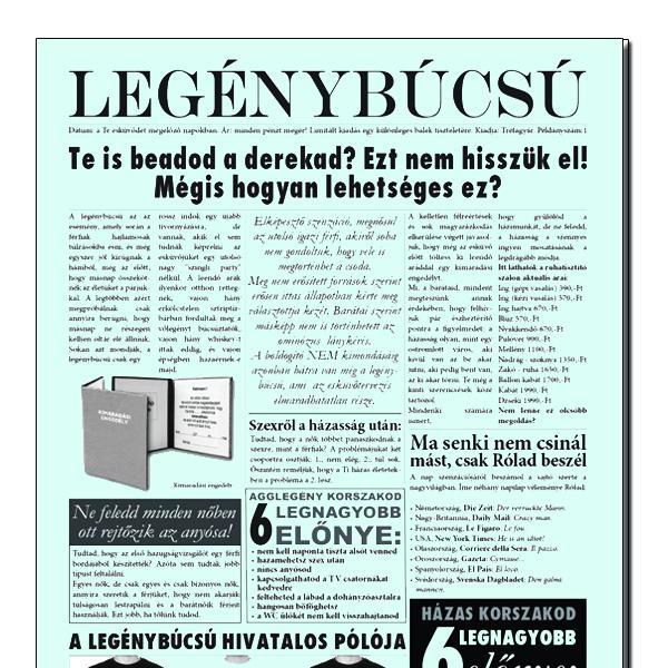 Újság/ Legénybúcsú