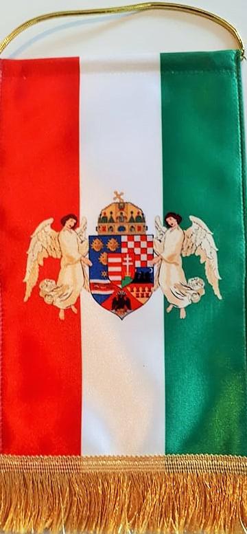 Zászló 2.(magyar címer angyalokkal)