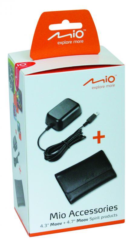 """Mio 2 Pack: 5.0"""" navigáció védőtok+otthoni töltő készlet"""