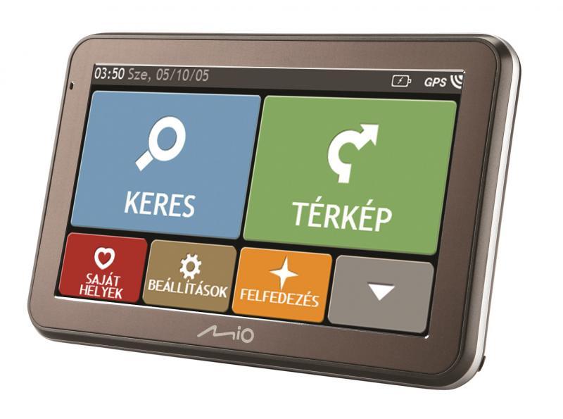 """Mio Spirit 7100 LM TELJES EURóPA TÉRKÉPPEL 5,0"""" Élettartam térkép frissítéssel GPS navigáció"""