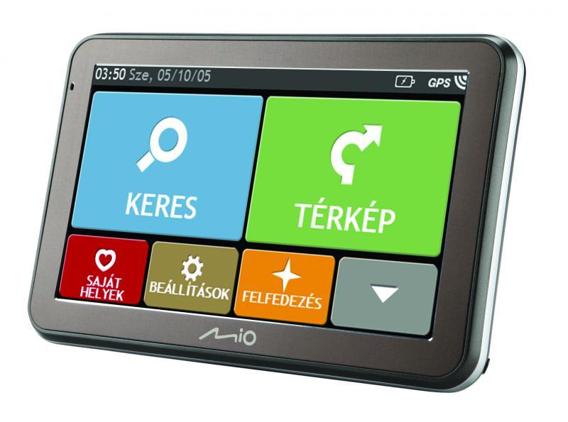 """Mio Spirit 7550 LM Teljes Europa térképpel 5,0"""" GPS navigáció+ ajándék bőrtok"""