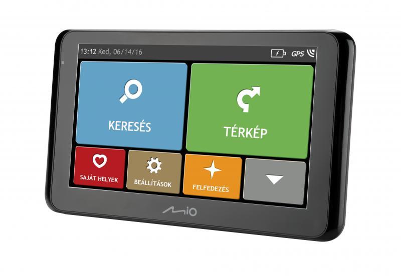 """Mio Spirit 8500 LM TELJES EUROPA TÉRKÉPPEL 6,2"""" Élettartam térképfrissítéssel GPS navigáció"""
