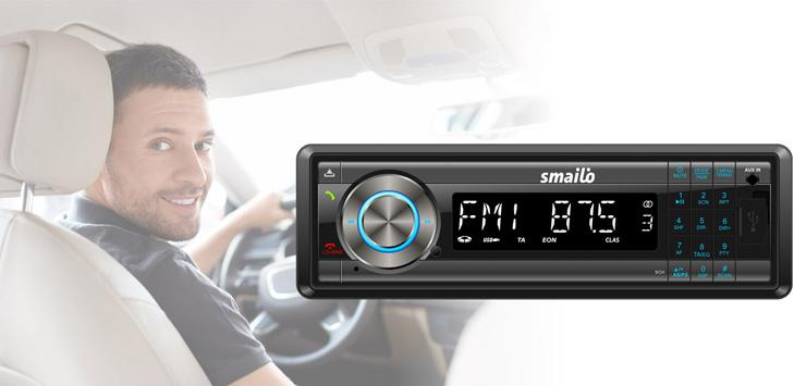 SMAILO Easy Talk & Drive MP3 autóhifi fejegység, 4x40W, USB, Kártyaolvasó, Bluetooth