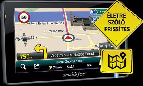 """SMAILO JOY 43FE 4,3"""" GPS TELJES EURÓPA OPEN STREET MAP NAVIGÁCIÓ"""
