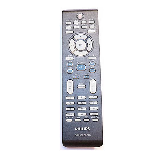 DVDR3435V / DVDR3435V37 DVD RECORDER / VCR 242254901516, EREDETI PHILIPS TÁVIRÁNYÍTÓ