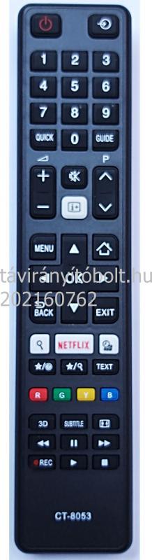 TOSHIBA CT-8053, CT8053, NETFLIX 3D TÁVIRÁNYÍTÓ