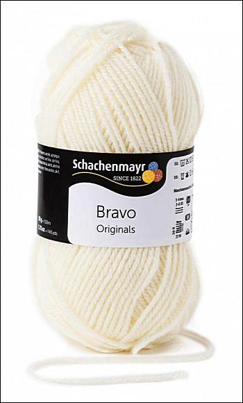 Bravo 5dkg fonal  színkód: 8200 krém