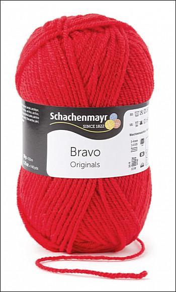 Bravo 5dkg fonal  színkód: 8221 Tűzpiros