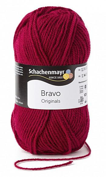 Bravo 5dkg fonal  színkód: 8222 Burgundi vörös