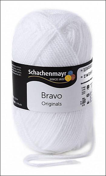 Bravo 5dkg fonal  színkód: 8224 Fehér