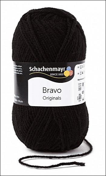 Bravo 5dkg fonal  színkód: 8226 Fekete