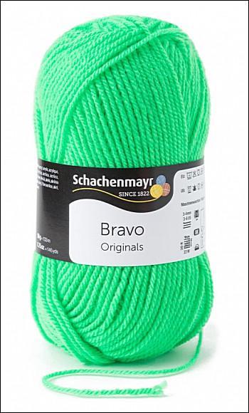 Bravo 5dkg fonal  színkód: 8233 Neon zöld