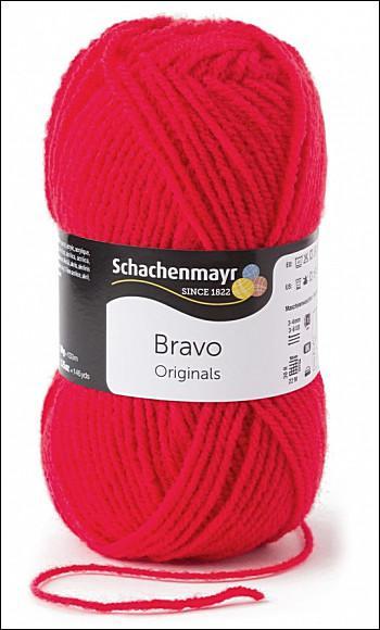 Bravo 5dkg fonal  színkód: 8241 Skarlát vörös