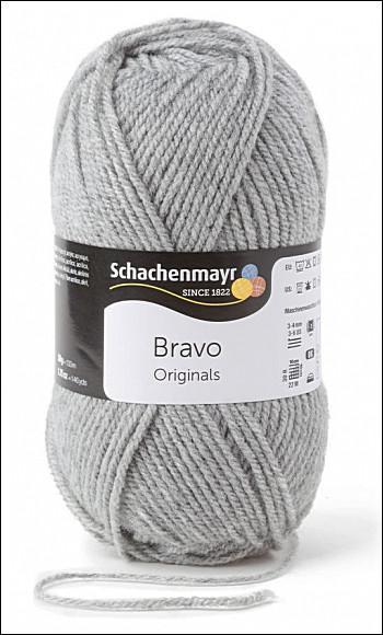 Bravo 5dkg fonal  színkód: 8295 világos szürke