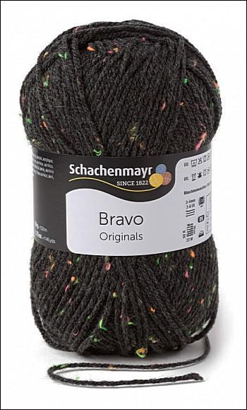 Bravo 5dkg fonal  színkód: 8329 Antracit neon