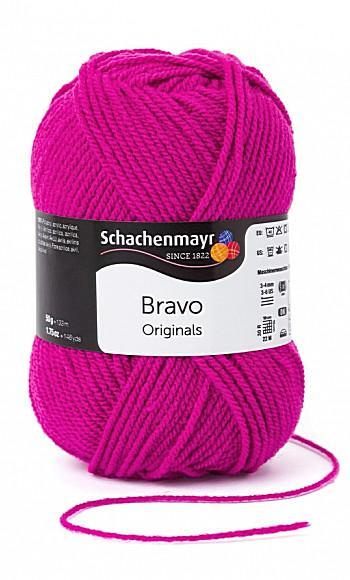 Bravo 5dkg fonal  színkód: 8350 Erős pink
