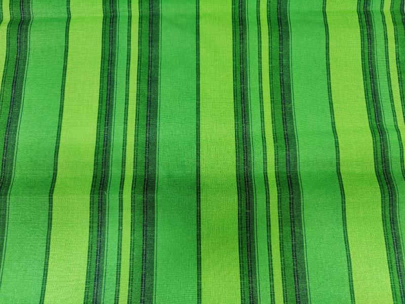 Bútorvászon narancs-sárga csíkos 140 cm széles
