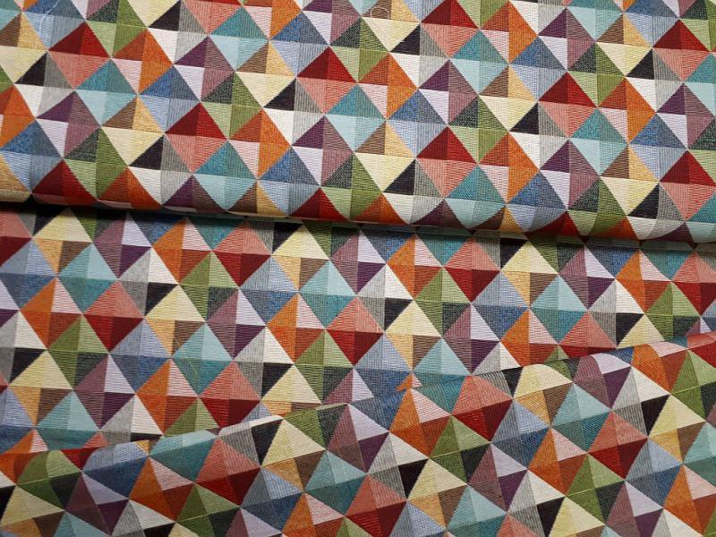 Canvas vászon színes háromszögek 140 cm széles