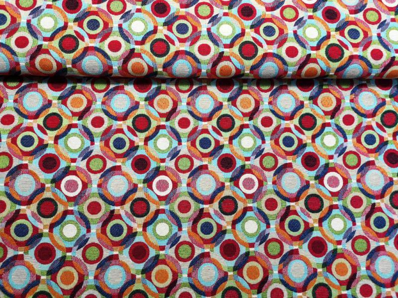 Canvas vászon színes karikák 140 cm széles