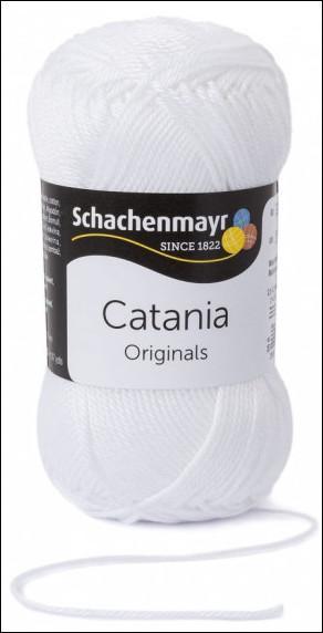 Catania pamut fonal 5dkg  színkód: 0106 Fehér