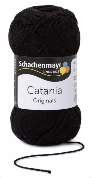 Catania pamut fonal 5dkg  színkód: 0110 fekete
