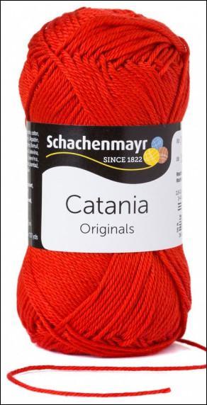 Catania pamut fonal 5dkg  színkód: 0115 piros