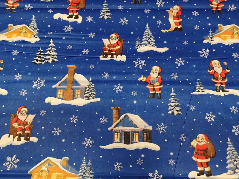 Damaszt teflonos karácsonyi mintás ekrű vászon 160 cm széles