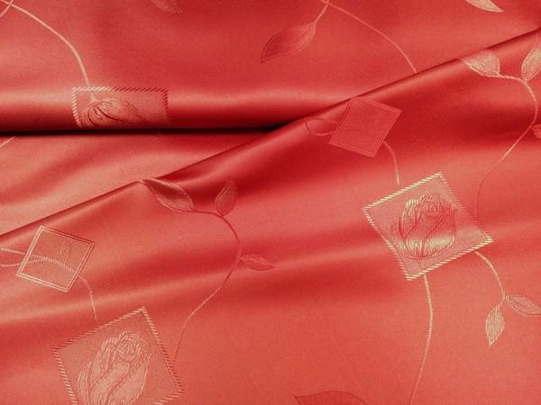 Damaszt teflonos vászon bordó virágmintás 160 cm széles
