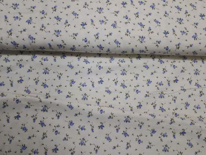 Flanel kék apróvirágos 150 cm széles