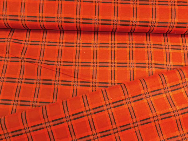 Flanel piros kockás egyoldalas 140 cm széles