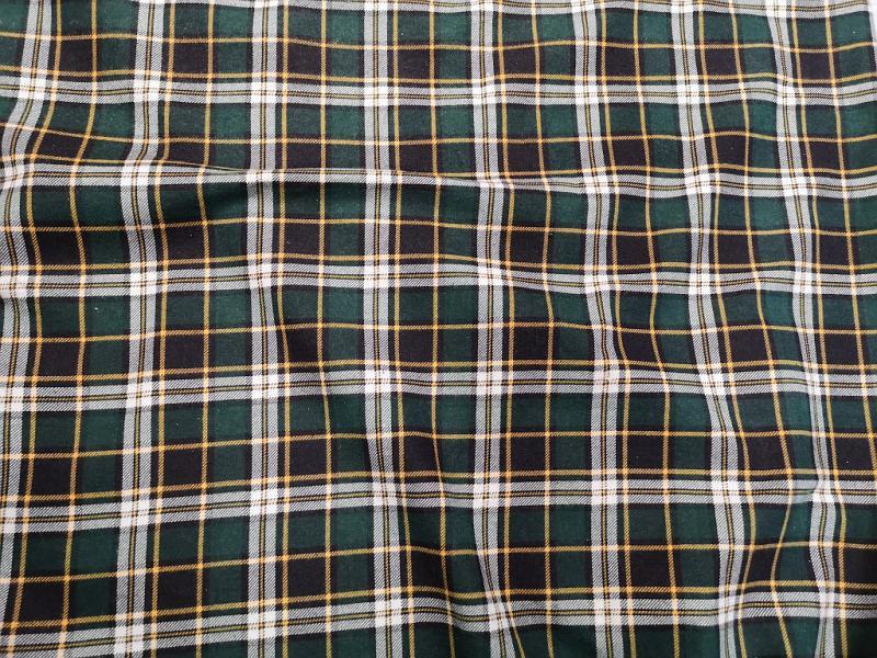 Flanel zöld kockás 150 cm széles