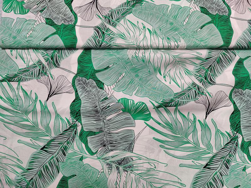 Flokon zöld levelek 140 cm széles