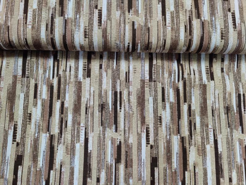 Lakástextil ekrű alapon kék hajós minták 140 cm széles