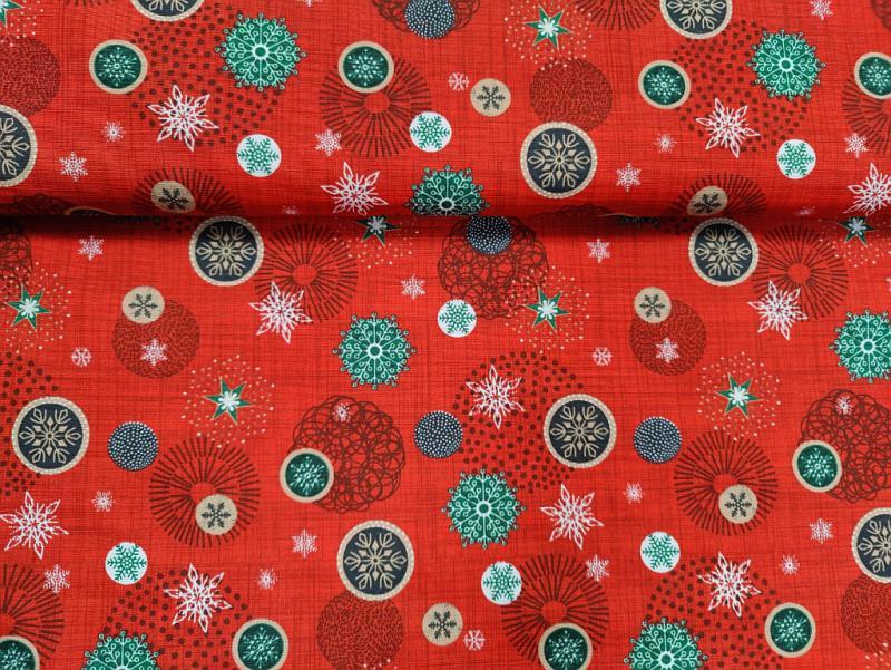 Lakástextil karácsonyi bordó-szürke mintás 140 cm széles