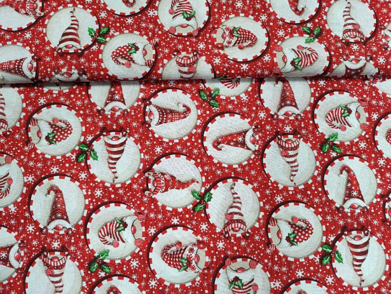 Lakástextil karácsonyi gömbök csillaggal 140 cm széles